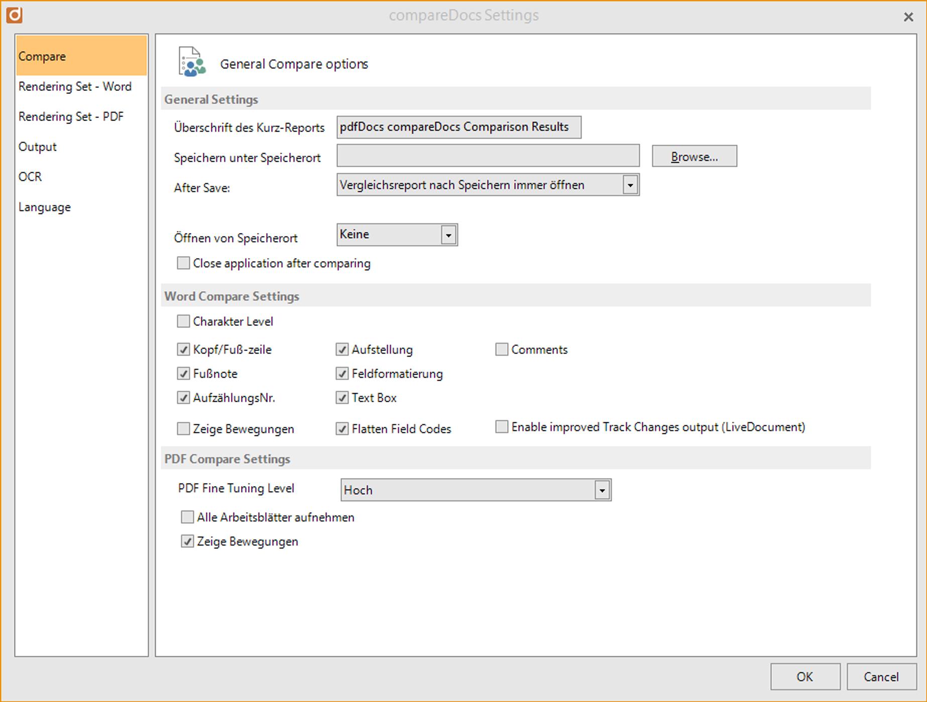 Werkzeuge zum Dokumentenvergleich - Formatting and more