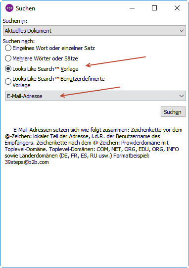 Mustersuche In Pdfs Formatting And More